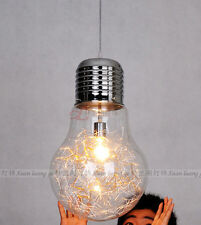 Vintage Industrial DIY Edison Bulb Style Glass Ceiling Lamp Pendant Light Home