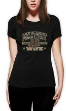 Military Wife Soldier Support Army Navy Marine Force  Women T-Shirt Spouse Proud