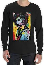 Jimi Hendrix Neon Rainbow Graphic Fan Rock Tee music  Long Sleeve T-Shirt