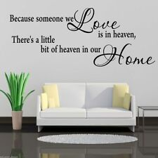 HEAVEN HOME Wall Art Sticker Hall Lounge Quote Decal Mural Stencil Transfer 2
