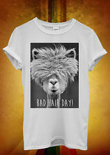Bad Hair Day LLama Lama Hipster Men Women Unisex T Shirt Tank Top Vest 329