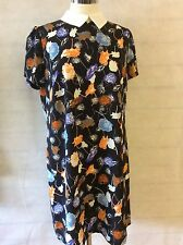 SUMMER FLORAL DRESS WITH COLLAR -  SIZE's 6 - 8 - 10 - 12 - 14 - 16 - 18 - 20