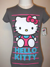 HELLO KITTY    Women's  Junior T-shirt Tee Sanrio  M Grey