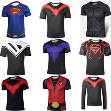 Batman T Shirt Superman Dark Knight Rise Nightwing Superhero Costume XS-4XL