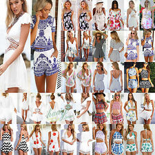 Women Sexy Celeb Short Playsuit Party Summer Lady Dress Shorts Jumpsuit Rompers