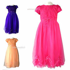 Dress Flower Girls Wedding Bridesmaid Party Formal New Age Size 2 4 7 8 12 Years