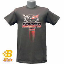 C5 CORVETTE WINNER'S LOGO CHARCOAL TEE SHIRT
