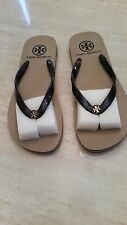 Authentic Tory Burch Flip Flops. Navy Blue and White Stripe. Sizes 6-9. No Box.