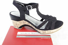 Marco Tozzi Women's Sandals black, soft inner sole, Wedge heel NEW