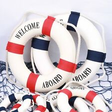 New Welcome Aboard Nautical Life Lifebuoy Ring Boat Wall Hanging Home Decor 6L