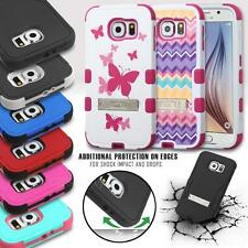 FOR SAMSUNG GALAXY S6 G920 TUFF DUAL LAYER SHOCKPROOF IMPACT CASE W/ KICKSTAND