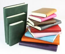 Papuro CAPRI REAL Leather Italian Lined Journals Notebooks 10 Colours 3 Sizes
