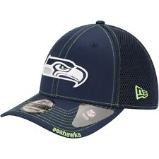 Seattle Seahawks New Era Neo NFL 39THIRTY Stretch Fit Flex Mesh Back Cap / Hat
