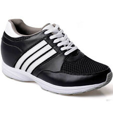 Chamaripa 3.35 Inch Taller Mens' Black Fashion Elevator Height Sport Shoes