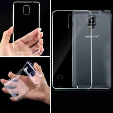 Clear Transparent TPU Soft Rubber Case Skin Cover For Apple Samsung Galaxy Phone