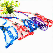 Hot Small Dog Pet Puppy Cat Adjustable Nylon Harness with Lead leash 5 Colors CN