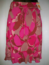 Beautiful Ladies Stretch Pink Floral Skirt - 8-10-12-14-16-18 made for M&S -new