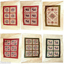 Indian Wall Hanging Embroidered Tapestry Bohemian Bedspread Animal Bird Floral