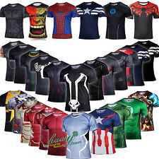 Latest Marvel Superhero Men T-shirt Shirts Cycling Sports Jersey Tee Fancy Dress