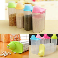 2.5L Large Dry Food Cereal Pasta Flour Storage Dispenser Food Rice Container Box