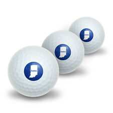 Indiana IN Home State Novelty Golf Balls 3 Pack