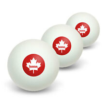 Canada Maple Leaf Home Country Table Tennis Ping Pong Ball 3 Pack
