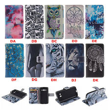 New Retro pattern Leather slot wallet flip stand case skin cover