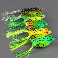 Bright Colors Lures Frog Topwater Fishing Lure Crankbait Hooks Bass Bait Tackle