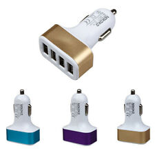 HOT CAR UNIVERSAL 12V 4PORT USB DC CHARGER ADAPTER FOR IPHONE SMARTPHONE GPS
