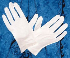 3 pair100% Cotton Gloves White Unisex Dermatological Hypoallergenic hemmed wrist