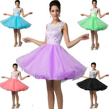 Women Short Lace Prom Formal Homecoming Evening Party Bridesmaid PROM Ball Dress