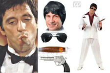 Fancy Dress Instant Scarface Kit Gangster Al Pacino Tony Montana Movie 4 Piece