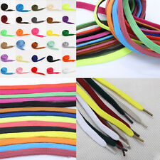 Hot 2pcs 30 Colors Athletic Sport Sneaker Flat Bootlaces Shoelaces Strings Laces