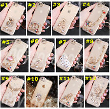 Cute Shine Bling Transparent Clear Crystal Diamonds Hard Back Case Cover Skin #2