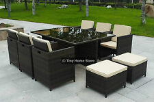 Luxury Cube Rattan Dining Set Garden Furniture Patio Conservatory Wicker Outdoor