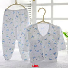 Cute Baby Animal Print Belted Shirt and Pants Newborn Soft Clothes Boys Girls