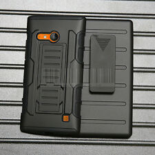 New Rugged Hybrid Hard Skin Case Cover Stand Holster For Nokia Lumia 730 735