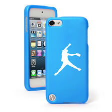 For Apple iPod Touch 4th 5th 6th Rubber Hard Case Cover Female Softball Pitcher