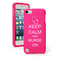 For Apple iPod Touch 4th 5th 6th Rubber Hard Case Cover Keep Calm Nurse On