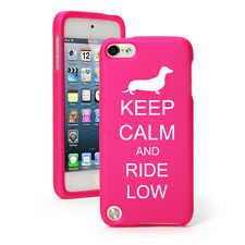 For Apple iPod Touch 4th 5th 6th Rubber Hard Case Keep Calm Ride Low Dachshund