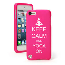 For Apple iPod Touch 4th 5th 6th Rubber Hard Case Cover Keep Calm Yoga On