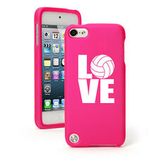 For Apple iPod Touch 4th 5th 6th Rubber Hard Case Cover Love Volleyball