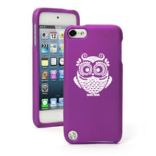 For Apple iPod Touch 4th 5th 6th Rubber Hard Case Cover Owl Vintage