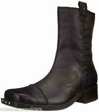 Mark Nason Bannon Men's Motorcycle Zipper Boots 68152 / BLK Black
