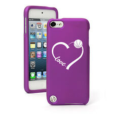 For Apple iPod Touch 4th 5th 6th Rubber Hard Case Cover Love Heart Basketball
