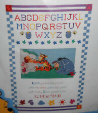 Disney WINNIE THE POOH - TOO MUCH HONEY SAMPLER Counted Cross Stitch Kit