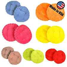 Made In USA Corduroy Indoor Outdoor Cushion Pad Seat Chair - Round Set Of 2,4,6