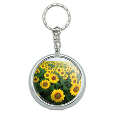 Portable Travel Size Pocket Purse Ashtray Keychain with Cigarette Holder Flowers
