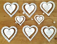 Shabby Chic Wooden Rustic Mr & Mrs Love Friends Heart Sign Decoration Gift