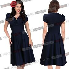 Women Vintage Rockabilly Retro Pinup Swing Skater Prom Ball Party Evening Dress